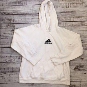 Adidas White Hoodie Sweater sz XL